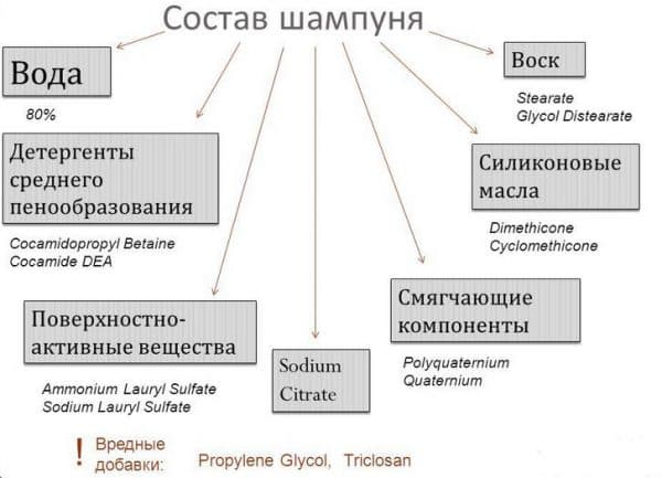 состав шампуня