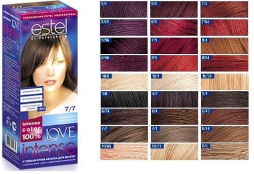 Палитра краск для волос Эстель  профессиональная - оттенки 11cb69c275677